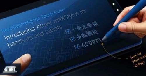 Atmel обещает изменить планшетники с помощью стилуса maXStylus