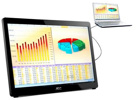 АОС представили новый 15,6-дюймовый USB-монитор
