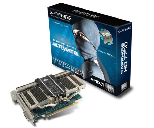 Видеокарта Sapphire HD 7750 с пассивным охлаждением