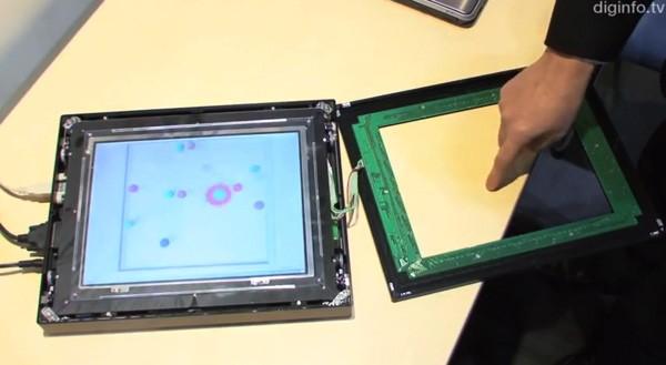 Прототип тактильного сенсорного дисплея от NEC
