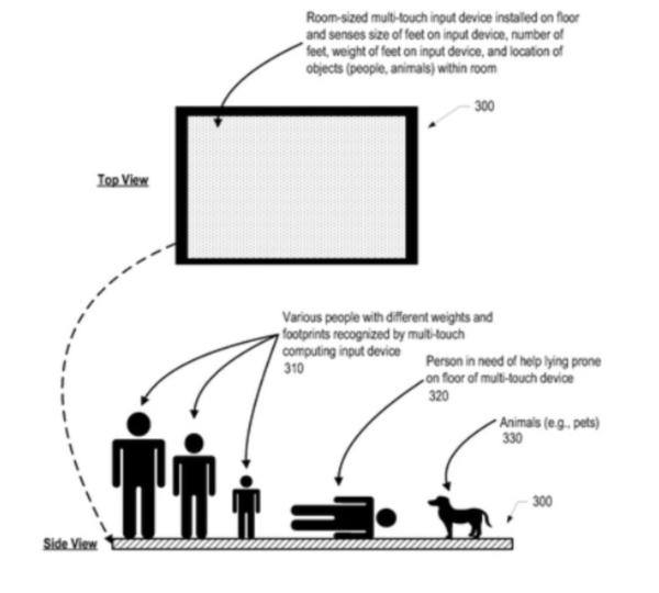 IBM получили патент на пол с поддержкой технологии мультитач