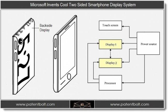 Microsoft работает над смартфоном с двумя дисплеями