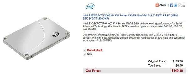 В сети появились данные об Intel SSD серии 330