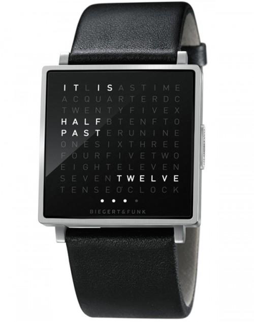 QLOCKTWO W – наручные часы для графоманов
