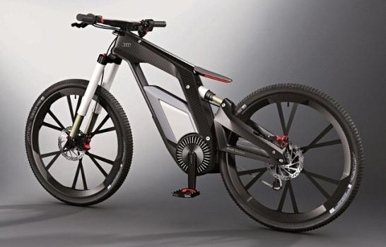Электровелосипед Audi с управлением через смартфон