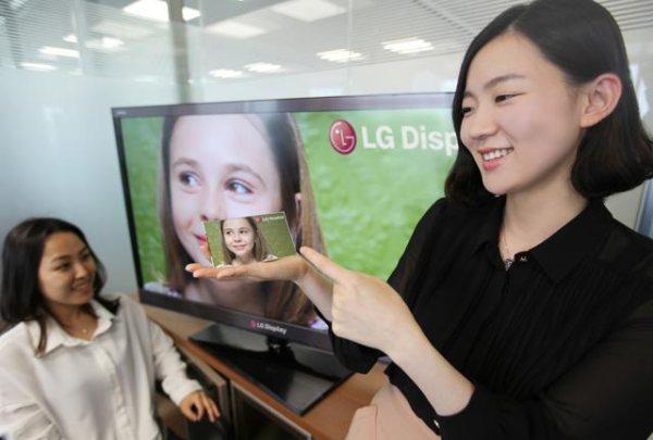 LG продемонстрировали 5-дюймовый FullHD экран для смартфонов