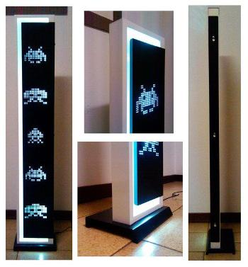 Напольный LED-cветильник Space Invaders