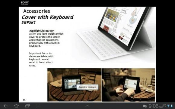 Sony представляет планшетник Xperia Tablet