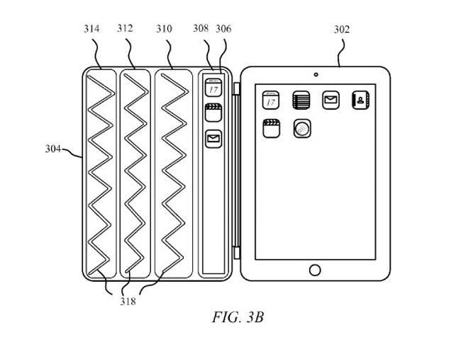 Apple продемонстрировала новый патент Smart Cover со встроенным дисплеем