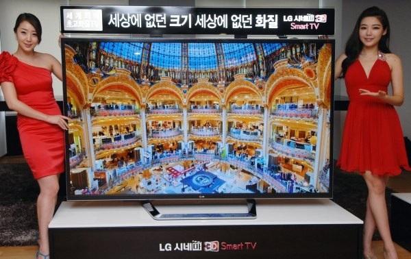 В сентябре LG выпустят телевизор с разрешением 4К