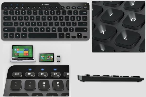 Универсальная BlueTooth-клавиатура с подсветкой от Logitech