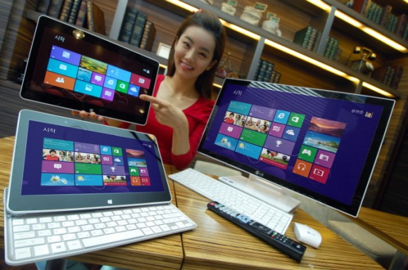 LG представили большой планшетник-слайдер и моноблок под Windows 8