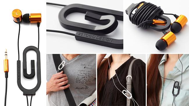 Необычные и очень практичные наушники Paperclip