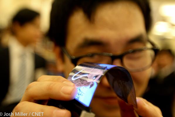 Samsung представят на CES гибкие HD-дисплеи