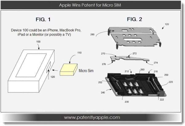 Apple получили патент на micro-SIM-коннектор