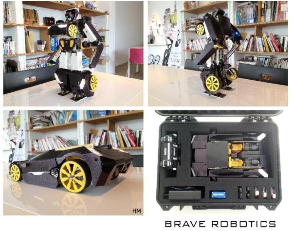 Потрясающий игрушечный трансформер, сделанный с помощью 3D-принтера