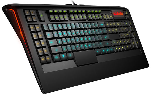 Новая клавиатура от SteelSeries с регулируемой подсветкой и двумя необычными кнопками