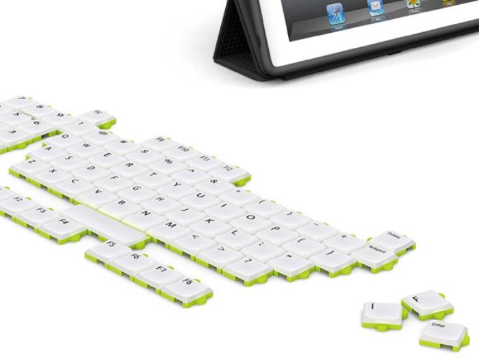 Клавиатура Puzzle Keyboard позволяет группировать кнопки в любом порядке