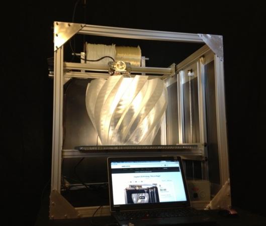 Gigabot 3D Printer - первый в мире крупномасштабный 3D-принтер для домашнего использования