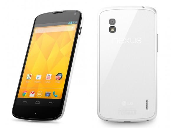 Белый Nexus 4 анонсирован официально