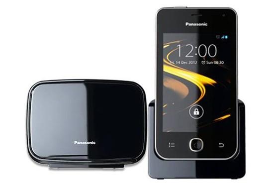 Стационарный беспроводной Android-телефон Panasonic KX-PRX120 с сенсорным экраном