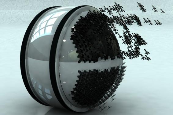 Концепт летающих роботов-поломоечных машин победил на соревновании Electrolux Design Lab