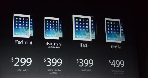 Планшетники iPad Air и iPad mini с Retina-дисплеем представлены официально