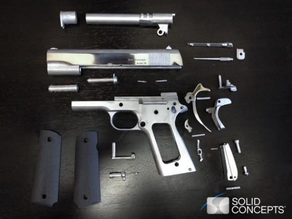 Первый в мире металлический работающий пистолет, отпечатанный на 3D-принтере