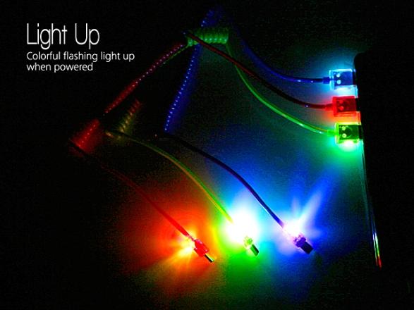 MicroUSB-кабель с разноцветной подсветкой от Brando