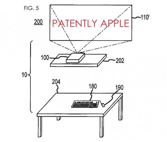 Apple запатентовали компьютер с проектором вместо дисплея и беспроводной зарядкой периферии