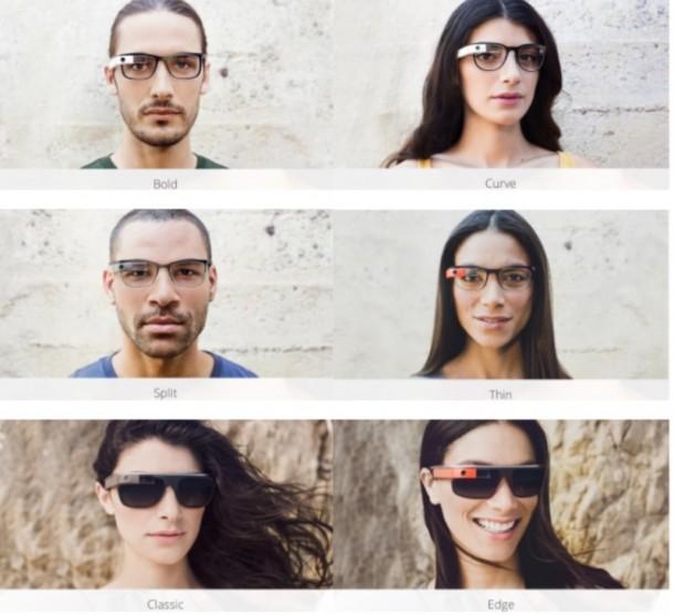 Google представили оправы и коррекционные линзы для смарт-очков Glass