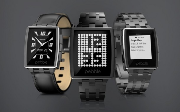 Часы Pebble Steel в действии