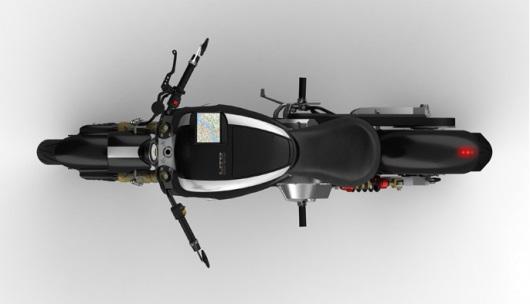 Электромотоцикл Lito Sora с сенсорным дисплеем и GPS