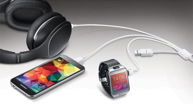 USB-кабель для зарядки трех гаджетов от Samsung