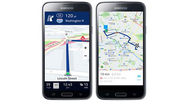 Смартфоны Samsung Galaxy получат поддержку Nokia Here