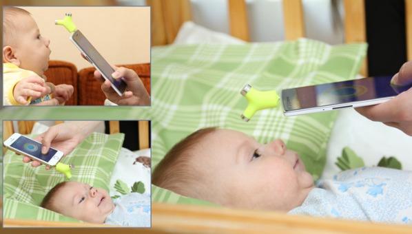 Термометр для смартфонов Wishbone позволит измерить температуру у спящего малыша