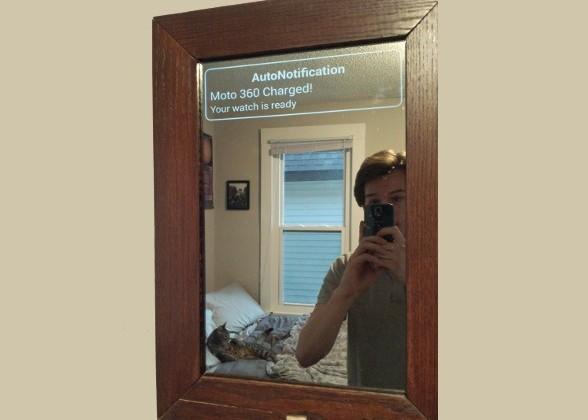 «Умное» зеркало под управлением Android для синхронизации со смарт-часами