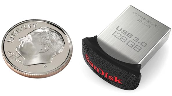 Самая маленькая в мире флешка USB 3.0 размером с монетку