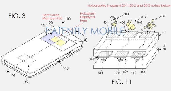 Samsung патентует «смартфон будущего», проецирующий голографические иконки