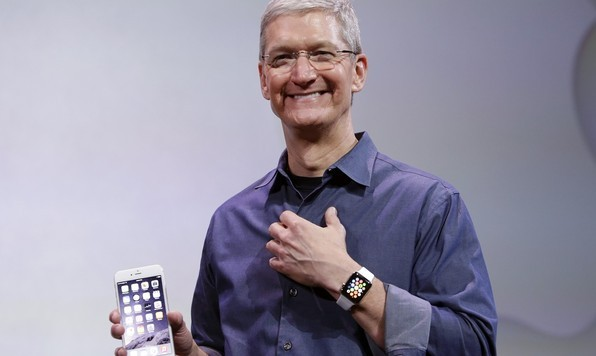 Apple CEO Tim Cook, discusses the new Apple Watch and iPhone 6s (AP)