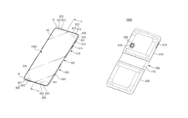 Samsung патентует складной сенсорный смартфон