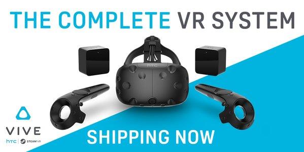 Началась доставка очков виртуальной реальности HTC Vive