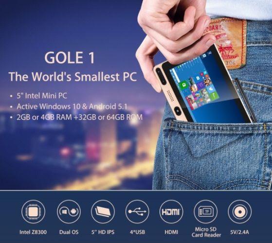 GOLE1 – компьютер под Windows 10 размером со смартфон за 99 долларов