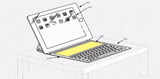 Apple запатентовала беспроводную клавиатуру для планшетов iPad Pro