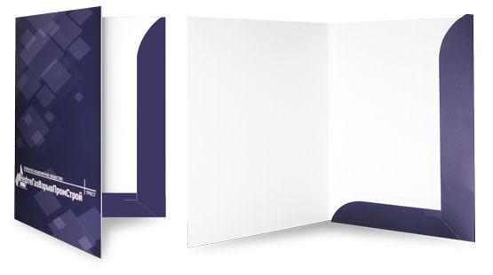 Изготовление папок с логотипом из картона