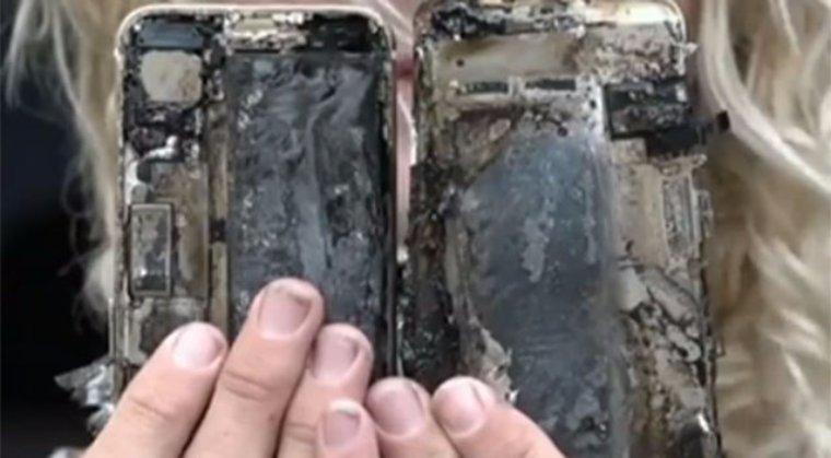 Взрыв iPhone 7 стал причиной возгорания автомобиля