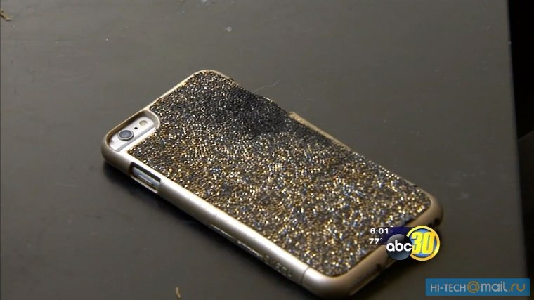 iPhone 6 Plus взорвался во время зарядки
