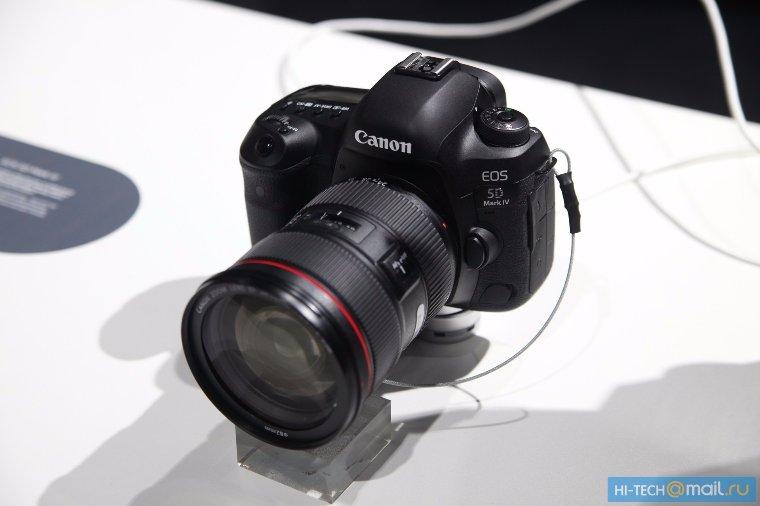 Canon презентовала новое поколение зеркалок Canon 5D Mark