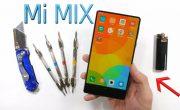 Безрамочный смартфон Xiaomi Mi MIX испытали огнем