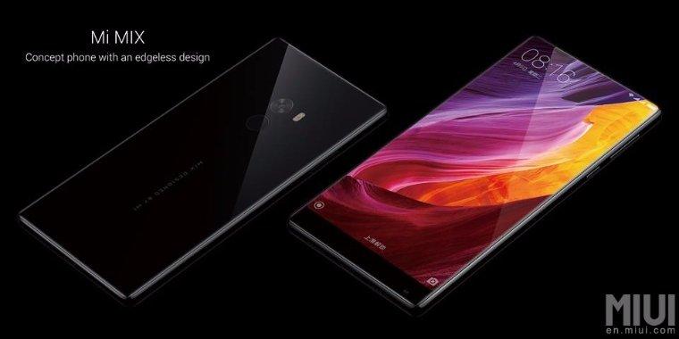 Китайский гигант Xiaomi презентовал безрамочный смартфон Xiaomi MIX